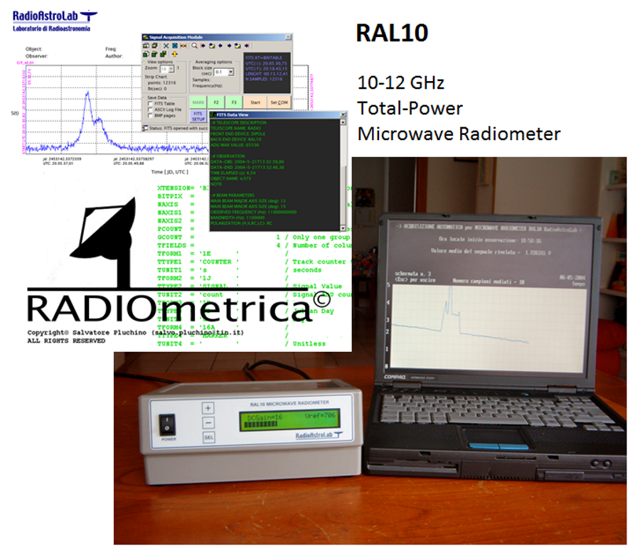 the first RAL10 radiometer receiver