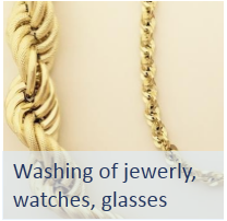 ultrasonic washing jewerly, watches, glasses